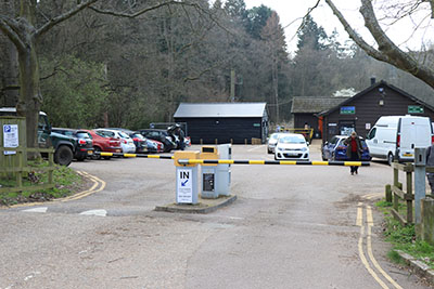 Less parking at the stockgrove entrance