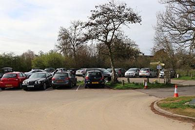 Main car park at Harrold Odell