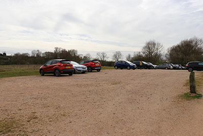 Overspill car park at Harrold Odell Country Park