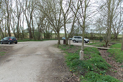 Entrance to WIllian Arboretum car park