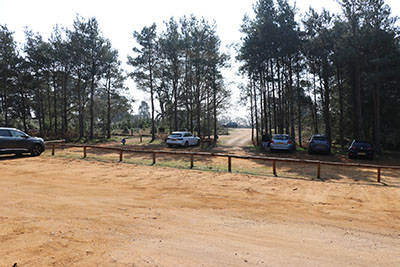 Parking areas at Rushmere Country Park