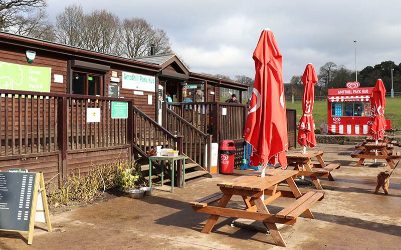 The cafe in Ampthill Great Park
