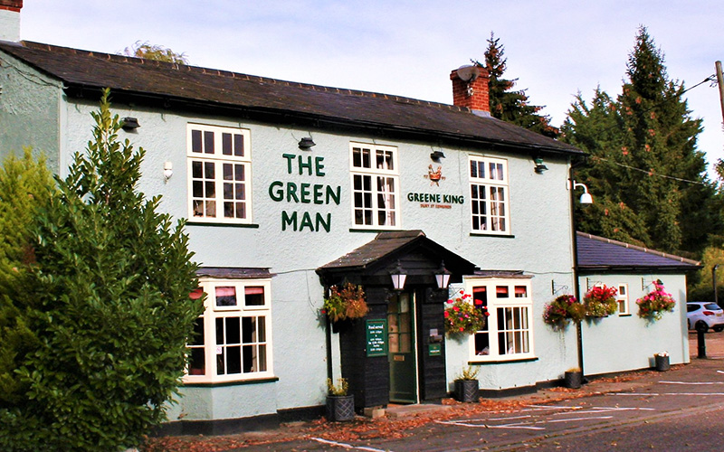 The Green Man in Royston