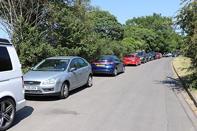 Mentmore road parking.