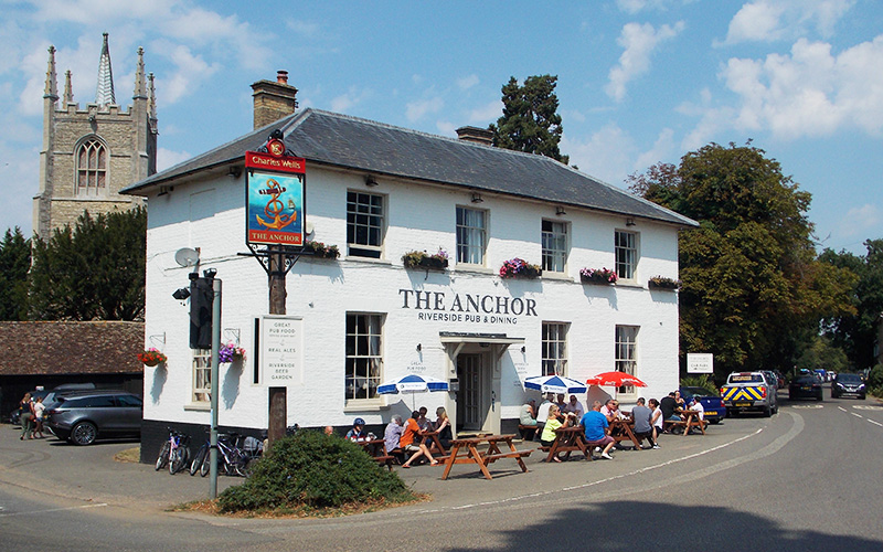 The Anchor pub at Great Barford