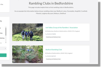 List of Bedfordshire Rambling Clubs