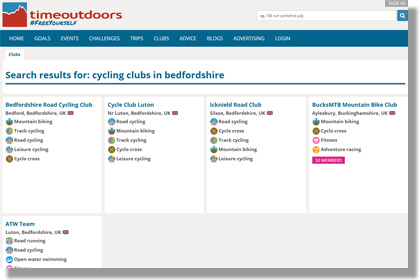 Cycling clubs in Bedfordshire